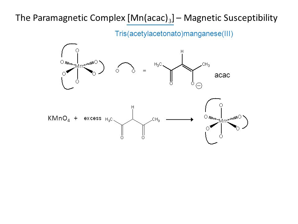 The Paramagnetic Complex [Mn(acac)3] – Magnetic Susceptibility